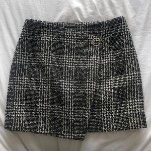 Wool-blend Tweed Skirt